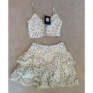 2 piece Summer Skirt Outfit